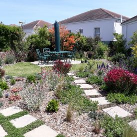 There are numerous gardens and quiet areas to relax within Peers Village